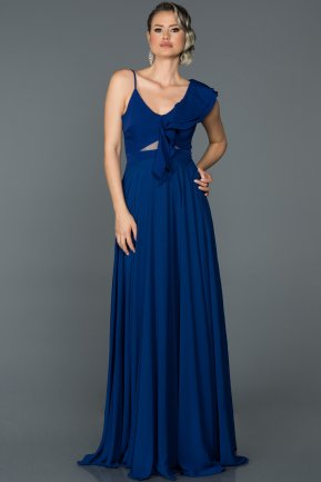 Long Sax Blue Engagement Dress ABU476
