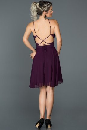 Short Purple Invitation Dress ABK027