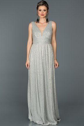 Long Grey Prom Gown AB7147