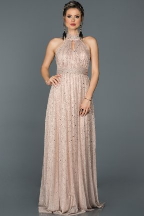 Long Powder Color Prom Gown AB7148