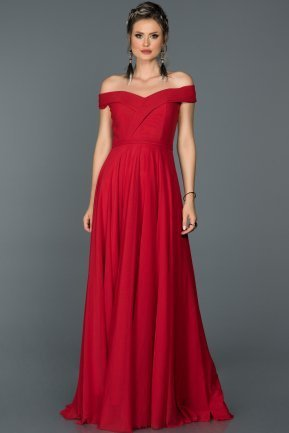 Long Red Prom Gown ABU021
