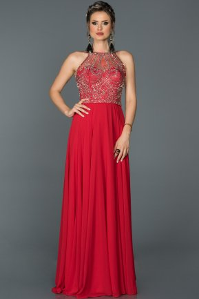 Tail Red Engagement Dress ABU051