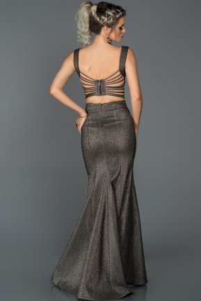Long Black-Silver Engagement Dress AB7437