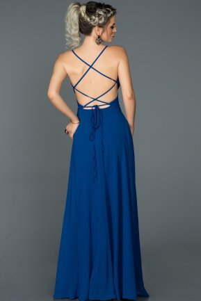 Long Sax Blue Prom Gown ABU097