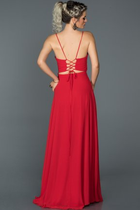 Long Red Prom Gown ABU154