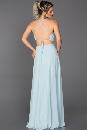 Long Light Blue Engagement Dress ABU089