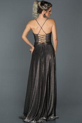 Long Black-Silver Engagement Dress AB7503