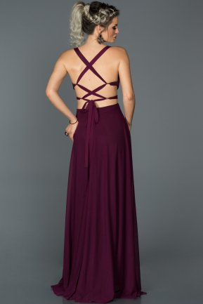 Long Plum Prom Gown ABU180