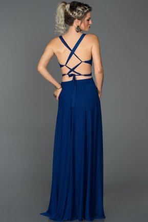 Long Sax Blue Prom Gown AB7599