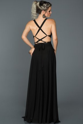 Long Black Prom Gown ABU180