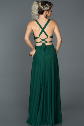 Long Emerald Green Prom Gown AB7599