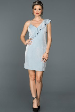 Short Light Blue Invitation Dress ABK048