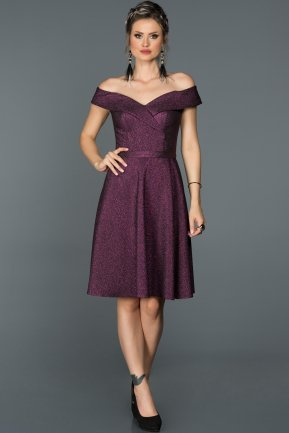 Short Fuchsia Invitation Dress AB8170