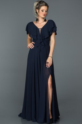 Long Navy Blue Engagement Dress ABU032