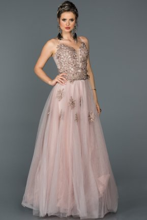 Long Powder Color Engagement Dress ABU053