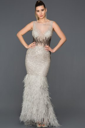 Long Silver Mermaid Prom Dress AB77041