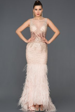 Long Pink Mermaid Prom Dress AB77041