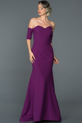 Long Purple Mermaid Prom Dress ABU477