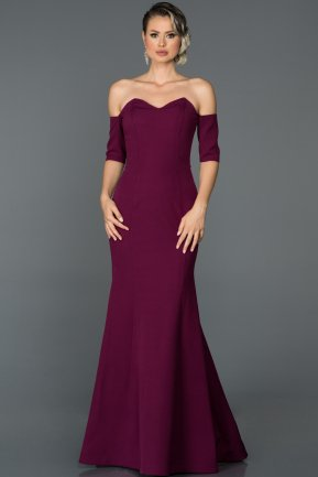 Long Plum Mermaid Prom Dress ABU477