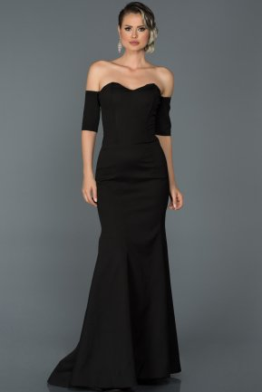 Long Black Mermaid Prom Dress ABU477