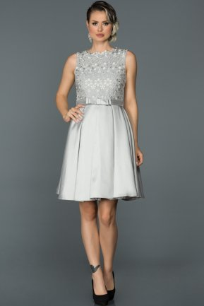 Short Grey Prom Gown AB2136