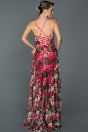 Long Fuchsia Prom Gown AB2532