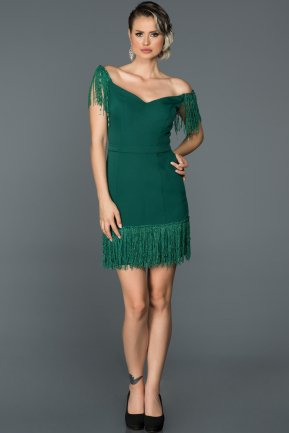 Emerald Green Invitation Dress ABK006