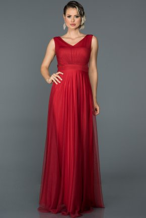 Long Red Evening Dress ABU056