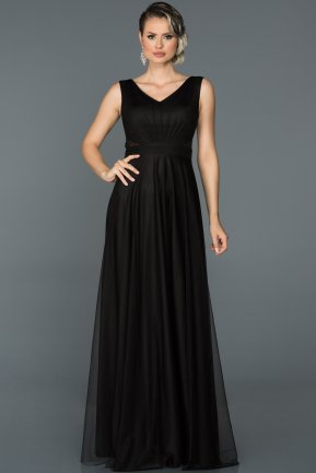 Long Black Evening Dress ABU056