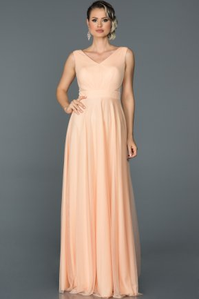 Long Salmon Evening Dress ABU056