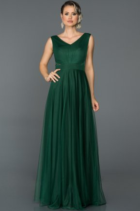Long Emerald Green Evening Dress ABU056