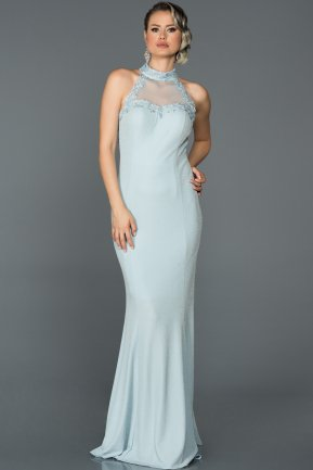 Long Blue Prom Gown ABU194