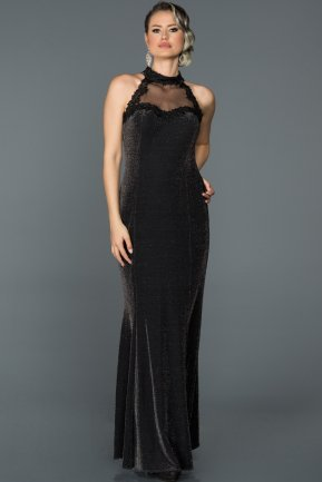 Long Black Prom Gown AB3504