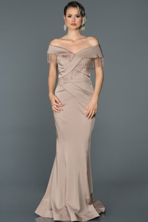 Long Mink Engagement Dress ABU238