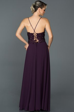Long Purple Prom Gown AB5071