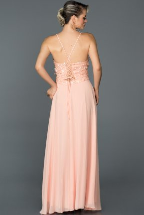 Long Powder Color Prom Gown AB5071