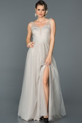 Long Grey Engagement Dress ABU320