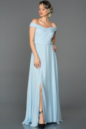 Long Light Blue Engagement Dress ABU057