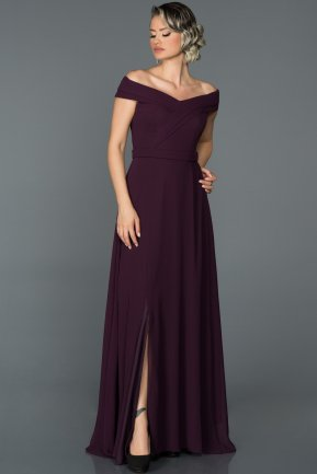 Long Purple Engagement Dress ABU057