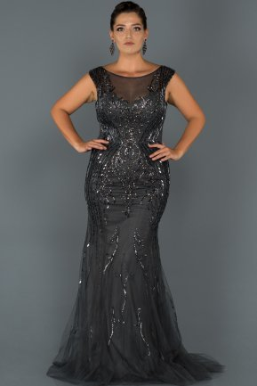 Long Smoked Color Plus Size Evening Dress AB60772