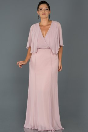 Long Light Lavender Oversized Evening Dress AB4369