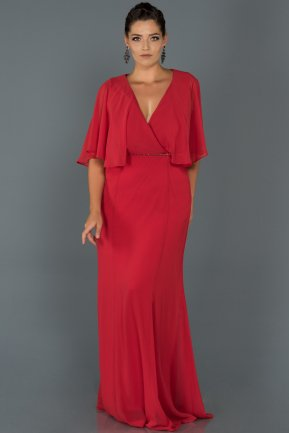 Long Red Oversized Evening Dress AB4369