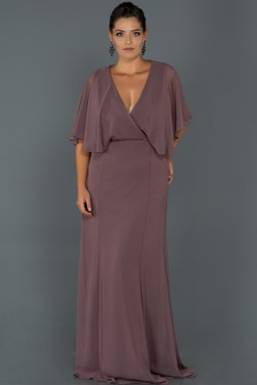 Long Lavender Oversized Evening Dress AB4369