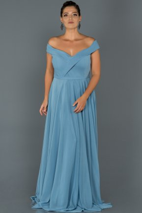 Long Blue Oversized Evening Dress AB7157