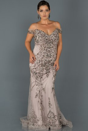 Long Lavander Plus Size Evening Dress AB17012