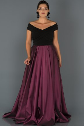 Long Purple Oversized Evening Dress AB1073