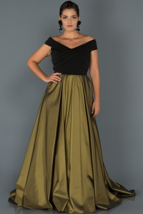 Long Green Oversized Evening Dress AB1073