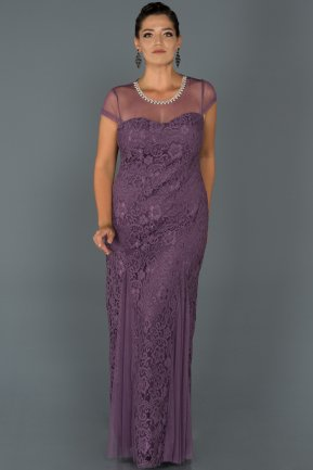 Long Lavander Oversized Evening Dress AB37128