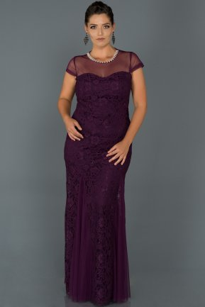 Long Purple Oversized Evening Dress ABU135