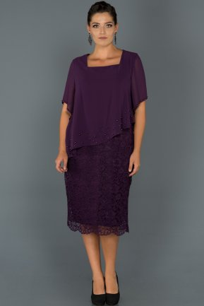 Short Purple Oversized Evening Dress AB39128